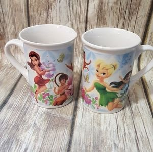 Pair of Disney Fairy mugs